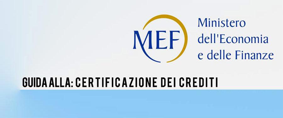 MEF e certificazione dei crediti su piattaforma